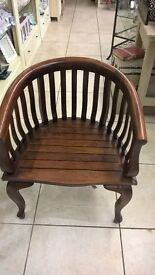 Lovely solid wood barber style chair, in good condition.