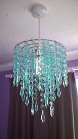 blue/ turquoise chandelier