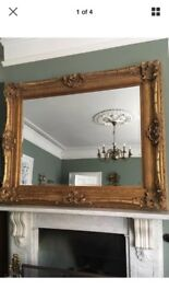 Large Victorian antique style mirror