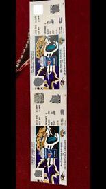 NFL FACE VALUE (£32 each) or best offer - 2 x Ravens V Jaguars tickets at Wembley on SUNDAY 24th