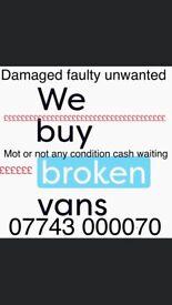 Always buying scrap cars and vans trucks lorries