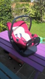 Mothercare stage 0 car seat with base