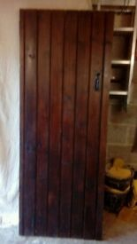 Solid oak external / internal doors / gates. x2