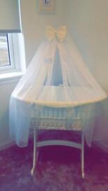 *** large style Moses basket rocking crib bassinet *^^