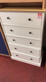 kensington 2 tone 5 drawer chest
