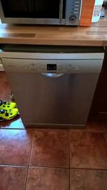 Silver full size dishwasher
