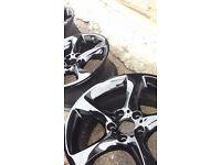 "BMW 19"" Alloy Wheels Genuine Gloss Black Twist Spoke from a E92 Coupé"