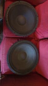 """2x 18"""" Sound System Bass Speakers"""