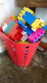 Kids assortment of plastic blocks
