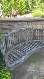 BANANA BENCH HARD WOOD, 1 STAVE MISSING GLUSBURN BD20 8DW near KEIGHLEY