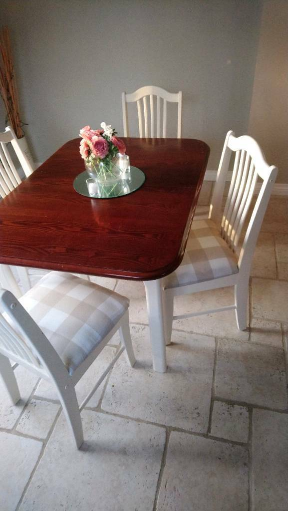 Kitchen Dining Room Table And 4 Chairs 120 Ono