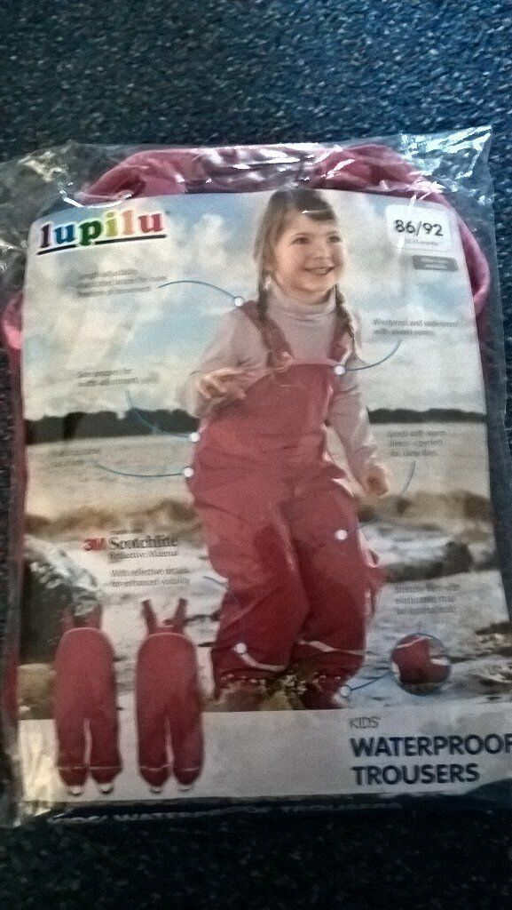 Girls waterproof trousers