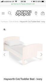 Mamas & Papas Hayworth Cot / Cot Bed in Cream