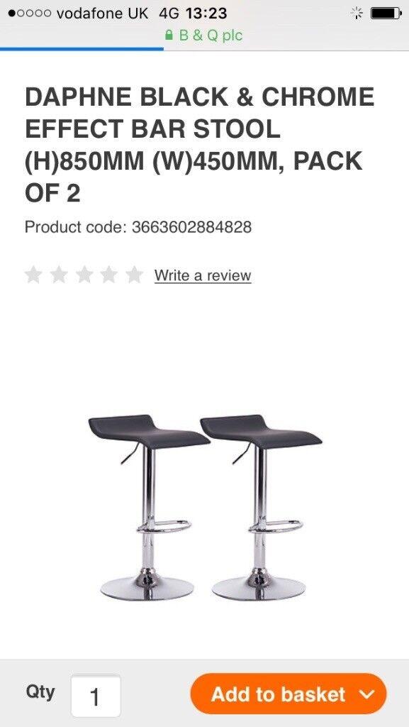 detailed look 11a5b dab9e 2 B&Q bar stools   in Corstorphine, Edinburgh   Gumtree
