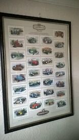 4 CASTELLA CIGAR CARDS FRAMES..SOLDIERS.STEAM TRAINS..MOTORING..CARS..NEVER DISPLAYED....
