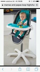 Mamas and Papas Loop high chair. Immaculate condition