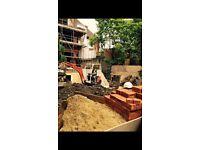 Excavator operator.Landscaping