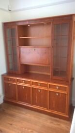 Nathan Solid Wood Display Cabinet and matching Corner Unit.