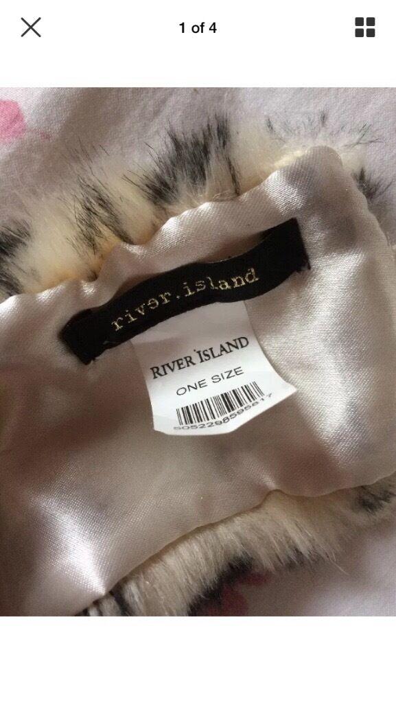 RIVER ISLAND fur head band