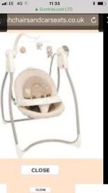 Baby bear singing swing