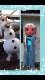 Olaf Elsa mascots