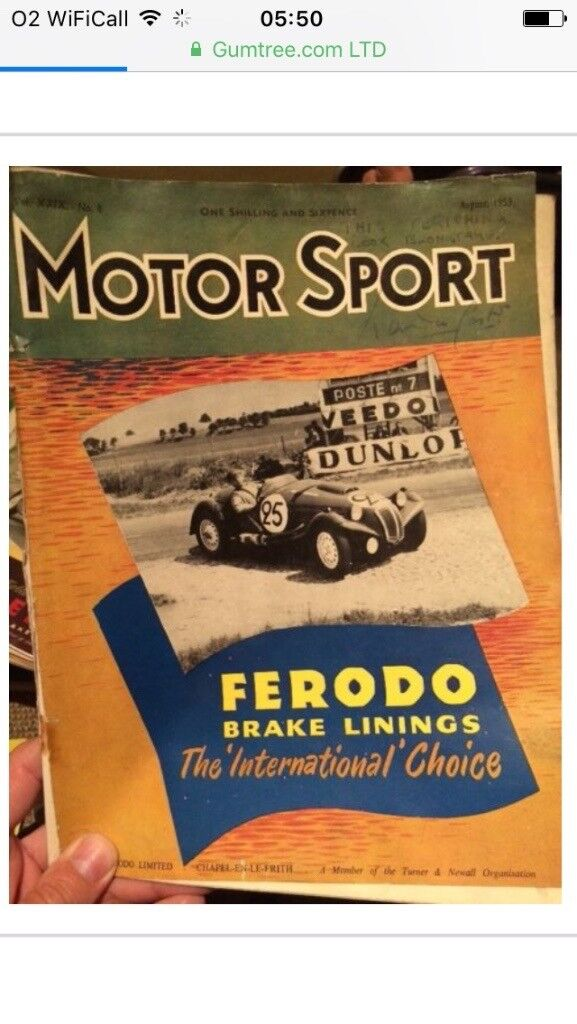 Old motorsport magazines 1950/60s