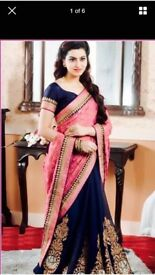 Navy saree