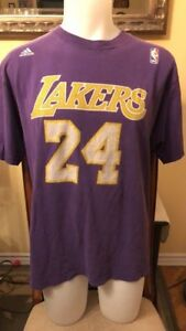 Lakers NBA 24 Bryant Adidas T-Shirt Size Large