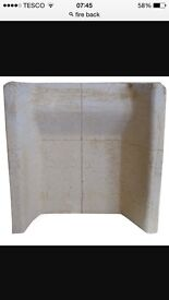 Fireback clay for working or gas fire