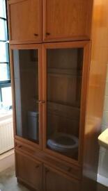 1950s vintage teak tall cupboard