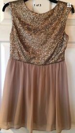 Gold sequin dress size 12