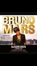 2 Bruno mars tickets Tuesday 10th of July