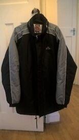 Brand new warm Kappa winter jacket / coat , black & grey XXL