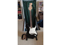 Electric Guitar for Sale - Full-size Fender Squier Stratocaster with Stagg Hard Guitar Case