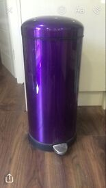 Purple chrome pedal bin used twice