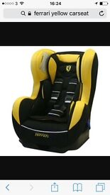 Yellow Ferrari car seat