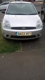 FORD FIESTA 03 PLATE 88000 MILES SILVER ALLOYS MOT'D £550 may p/x