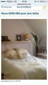 LARGE Bedsit/ rooms - all