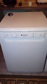 dishwasher hotpoint aquarius. 9 month old still under warranty. After kitchen refurb no longer fits