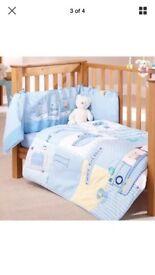 Cot quilt and bumper-clair de lune retails £44.99