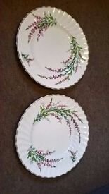 2x Royal Doulton plates 'Bell Heather'