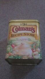 Old Vintage Antique Colmans Of Norwich Collectable Tin