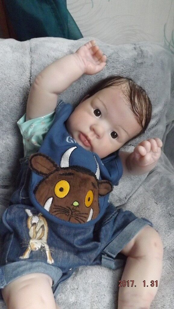 Reborn baby boy Chunky 23 inches NEW