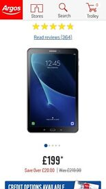 """Samsung galaxy tab A 2016 10.1"""" 16 gb, wifi + 4g"""