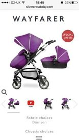 Silver cross pram purple