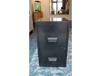Black 2 Drawer A4 Filing Cabinet. Pierre Henry Design