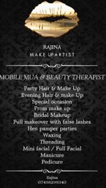 MOBILE ASIAN MAKE UP ARTIST PARTY & PROM MAKEOVERS, BEAUTY THERAPIST WAXING AND THREADING