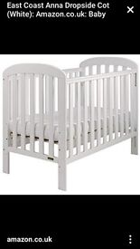 For sale, East coast Anna Dropside cot.