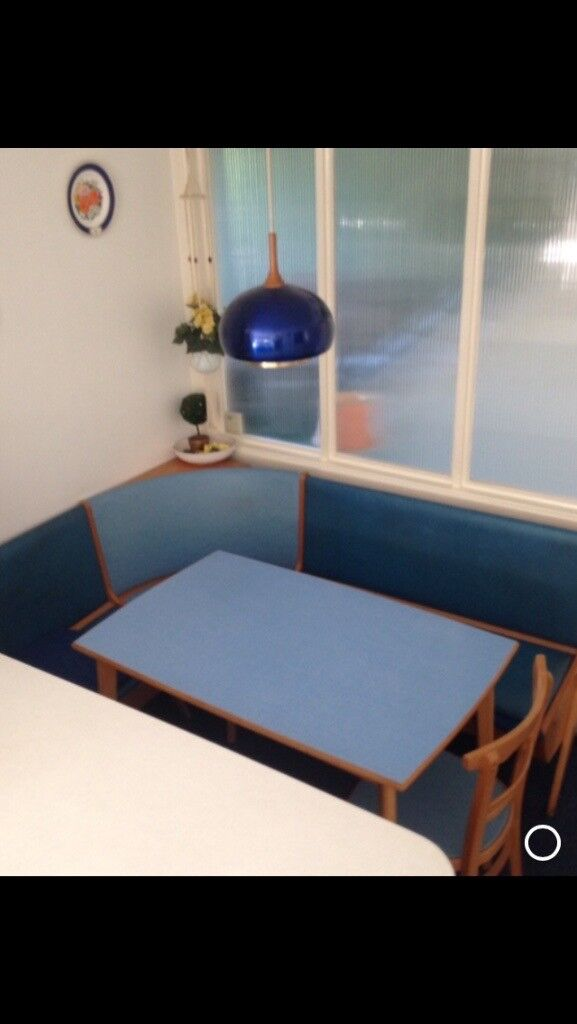 60's style american diner booth with table