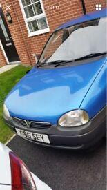 Vauxhall Corsa 1.0 litre 5 door Long mot